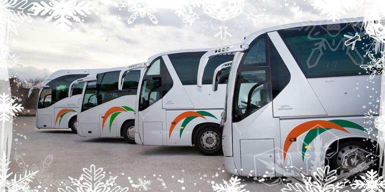 Alquila un autocar para tus comidas y cenas de empresa en Navidad