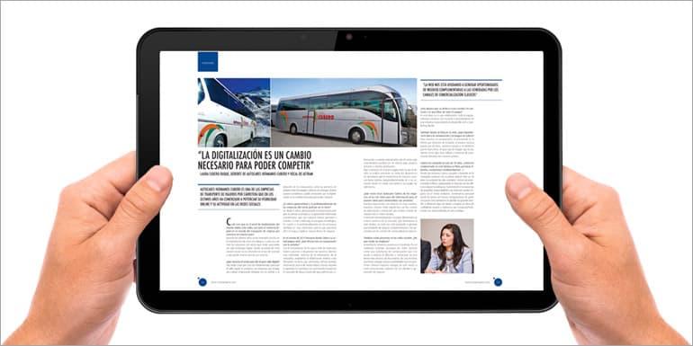 Autocares Cubero en el último número de la revista VIAJEROS