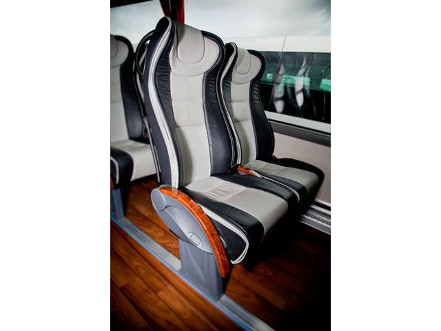 Alquiler de autocares Gran Lujo - Detalle de los asientos