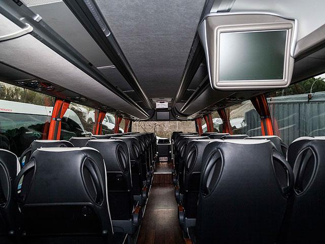Alquiler de autocares Gran Lujo - Interior (asientos y televisor)